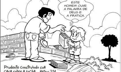 Lição infantil Parábola dos dois fundamentos (A casa sobre a rocha)