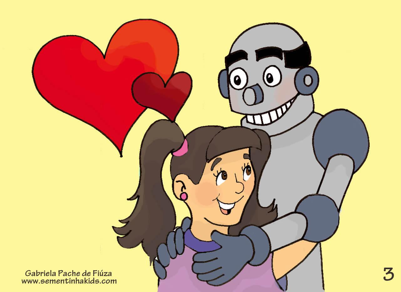 História infantil Meu pai robô